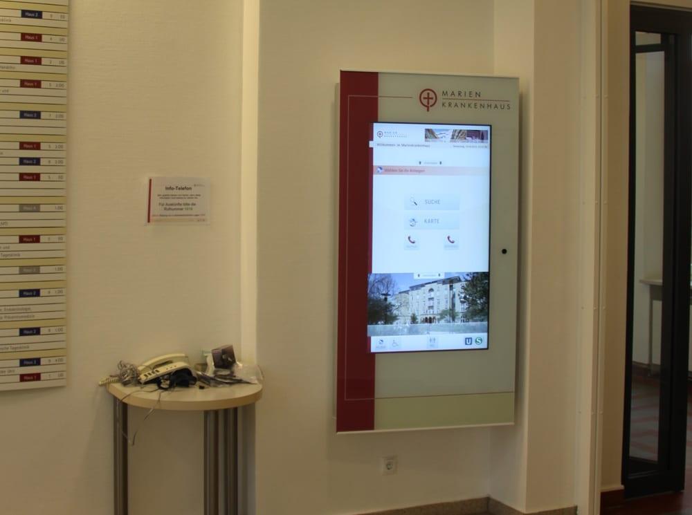 Marienkrankenhaus Digitales Orientierungssystem Interior Kliniken 1000x745px