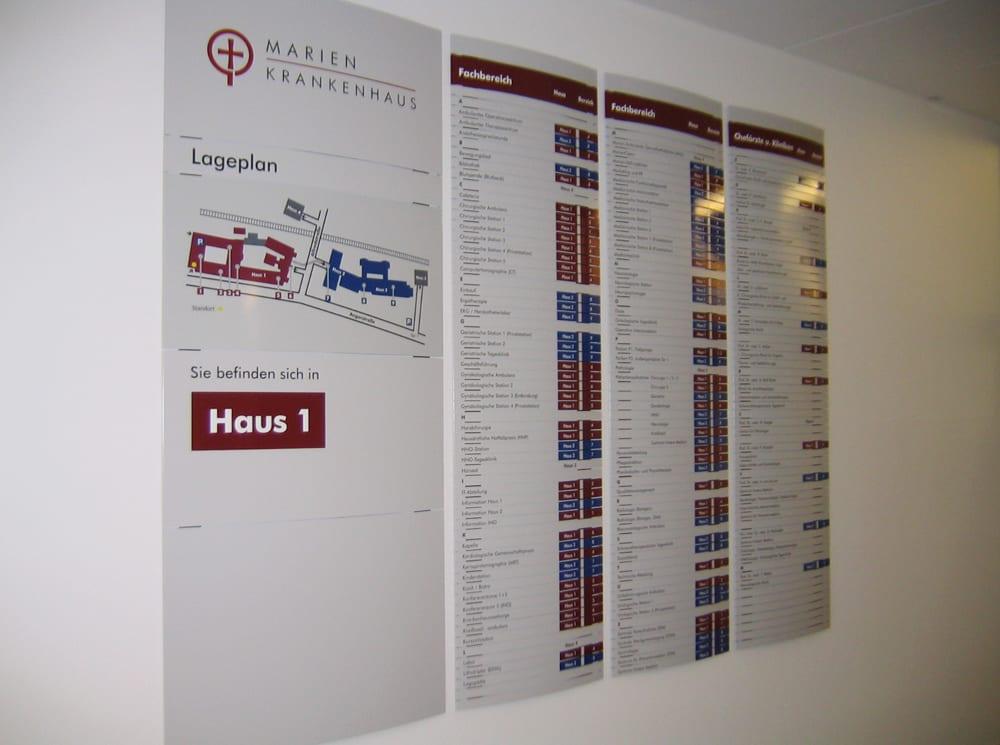 Marienkrankenhaus Beschilderungssystem Hauptwegweiser - Leitsysteme für den Innenbereich