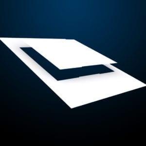 messenger-Pacific-tuerschild-papier-157er-kopf-paneel-weiß