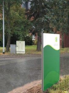 Elisabeth Klinikum Schmalkalden Monolith exterior Zielinformation