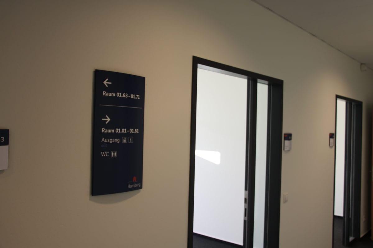 FHH Einwohnerzentralamt Interior Wandschild