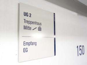 KNV interior Geschossübersicht Beschilderungssystem
