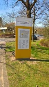 Klinikum Bremen Ost Monolith Exterior Lageplan Leitsystem