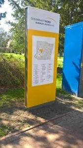 Klinikum Bremen Ost Monolith Exterior Lageplan Orientierungssystem