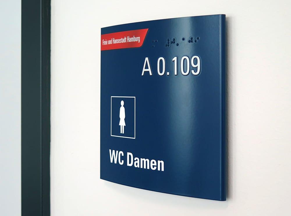 Leadway August Prien Finanzbehörde Hamburg permanentes Türschild