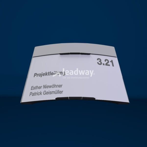 Modulex Pacific interior header paperflex 125 Türschild