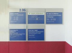 NWI Hauptwegweiser Interior Gebäudeübersicht