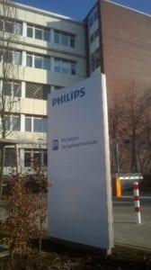 Philips Leitsystem Monolith Exterior Zielinformation