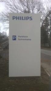 Philips Leitsystem Monolith Zielinformation