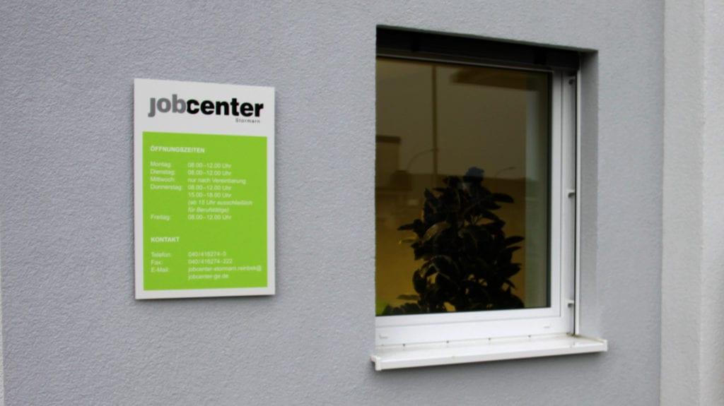 Jobcenter Reinbek Außenbeschilderung