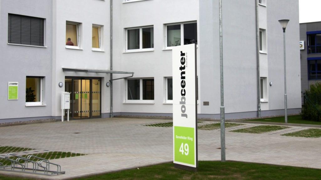 Jobcenter Reinbek Zielinformation Monolith
