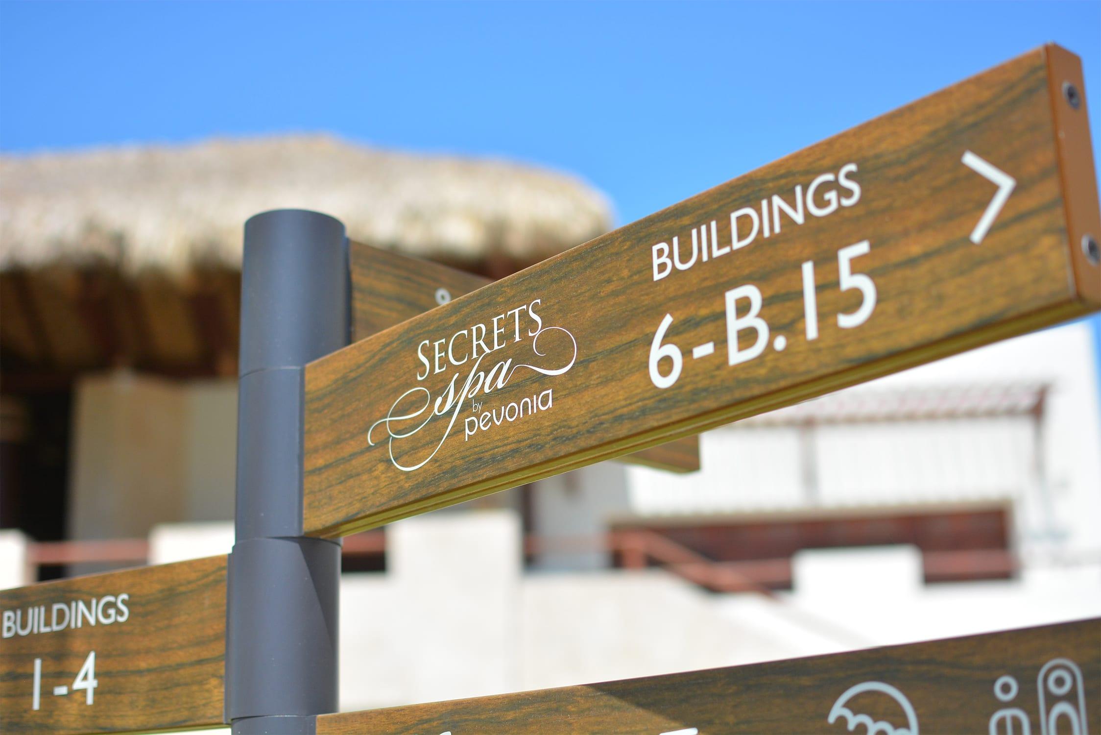 Secrets Cap Cana Resort-Spa 3D Druck Wegeitsystem Beschilderungssystem