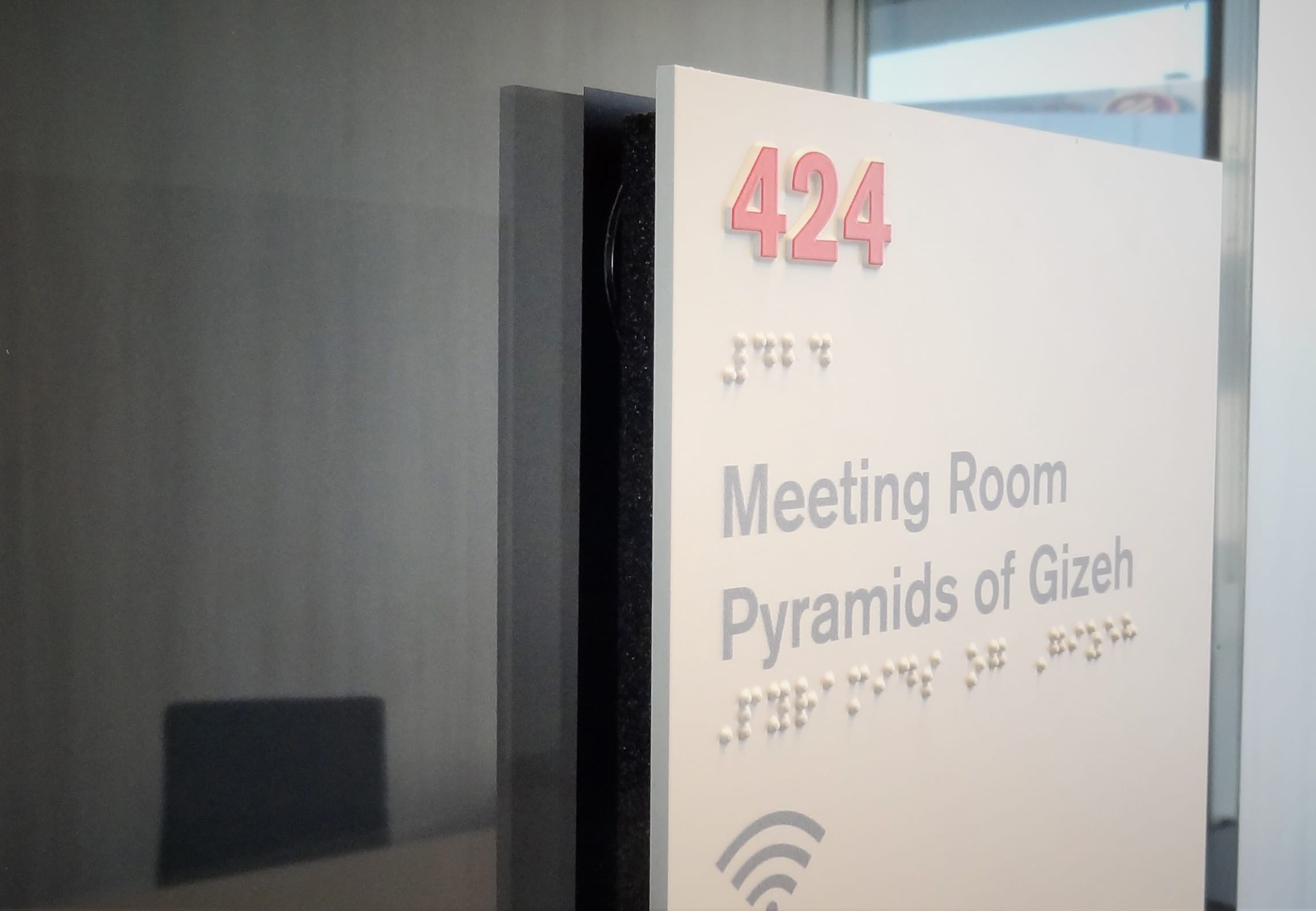 Taktiles Türschild Meetingroom Modulex