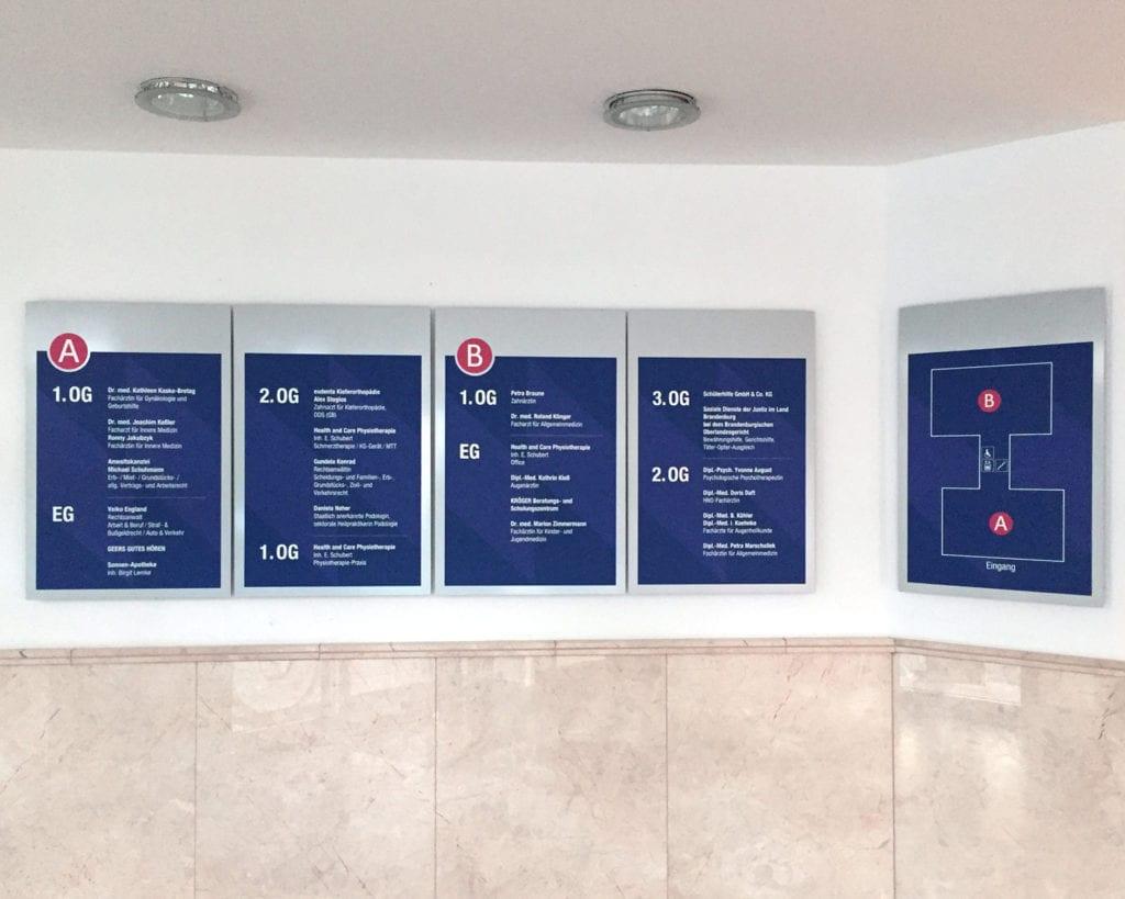 NWI Ärztehaus Zielinformation Messenger Interior Mieterübersicht