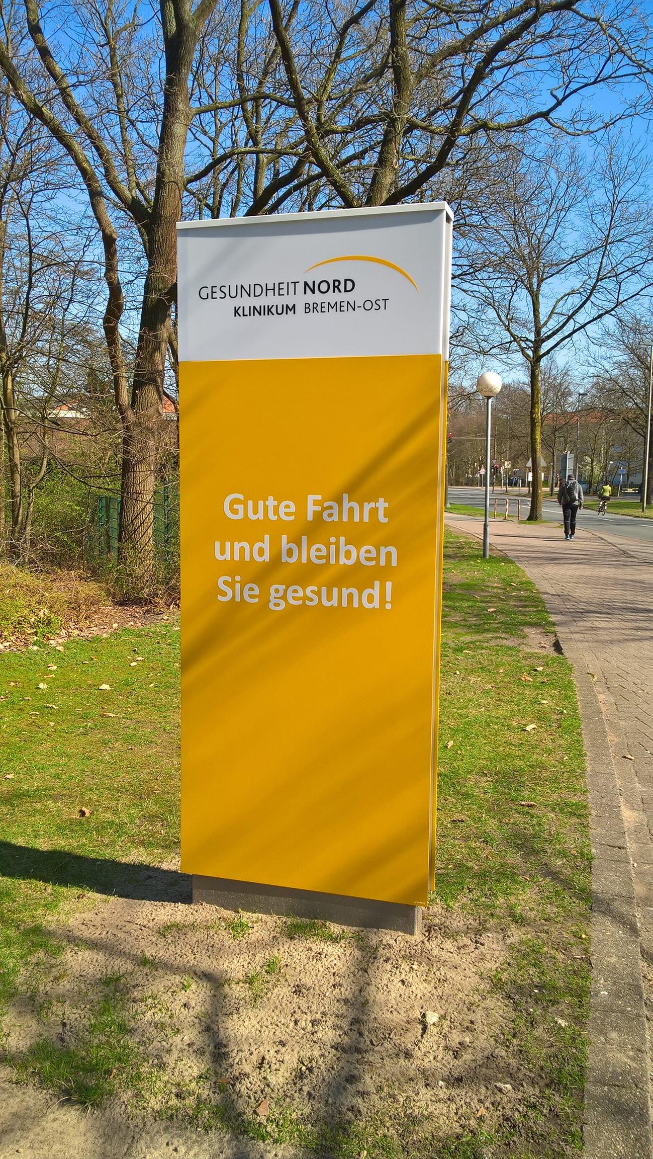 Bremen Ost Außenmonolith Pylon