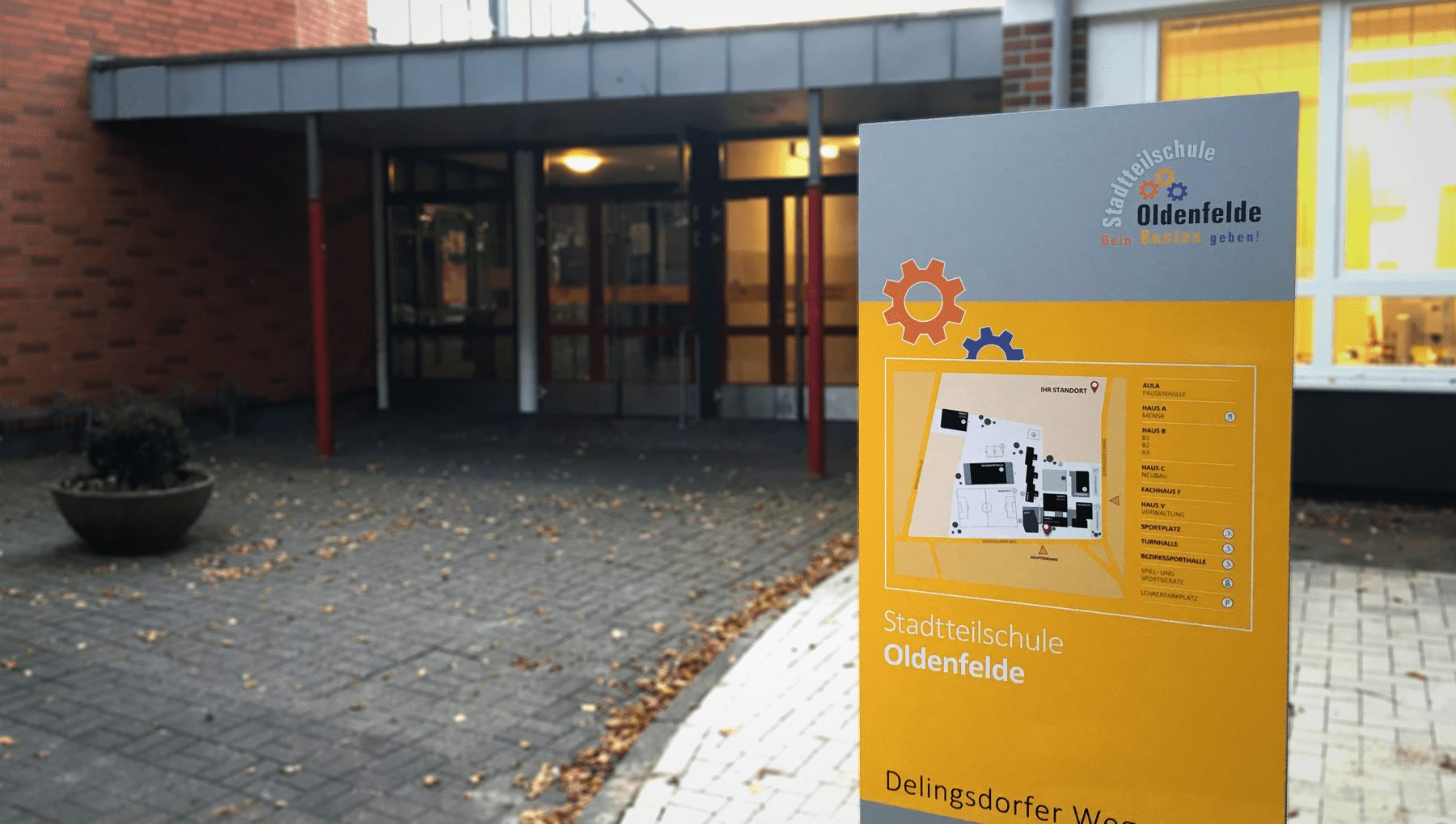 Neues Leitsystem für die Stadtteilschule Oldenfelde