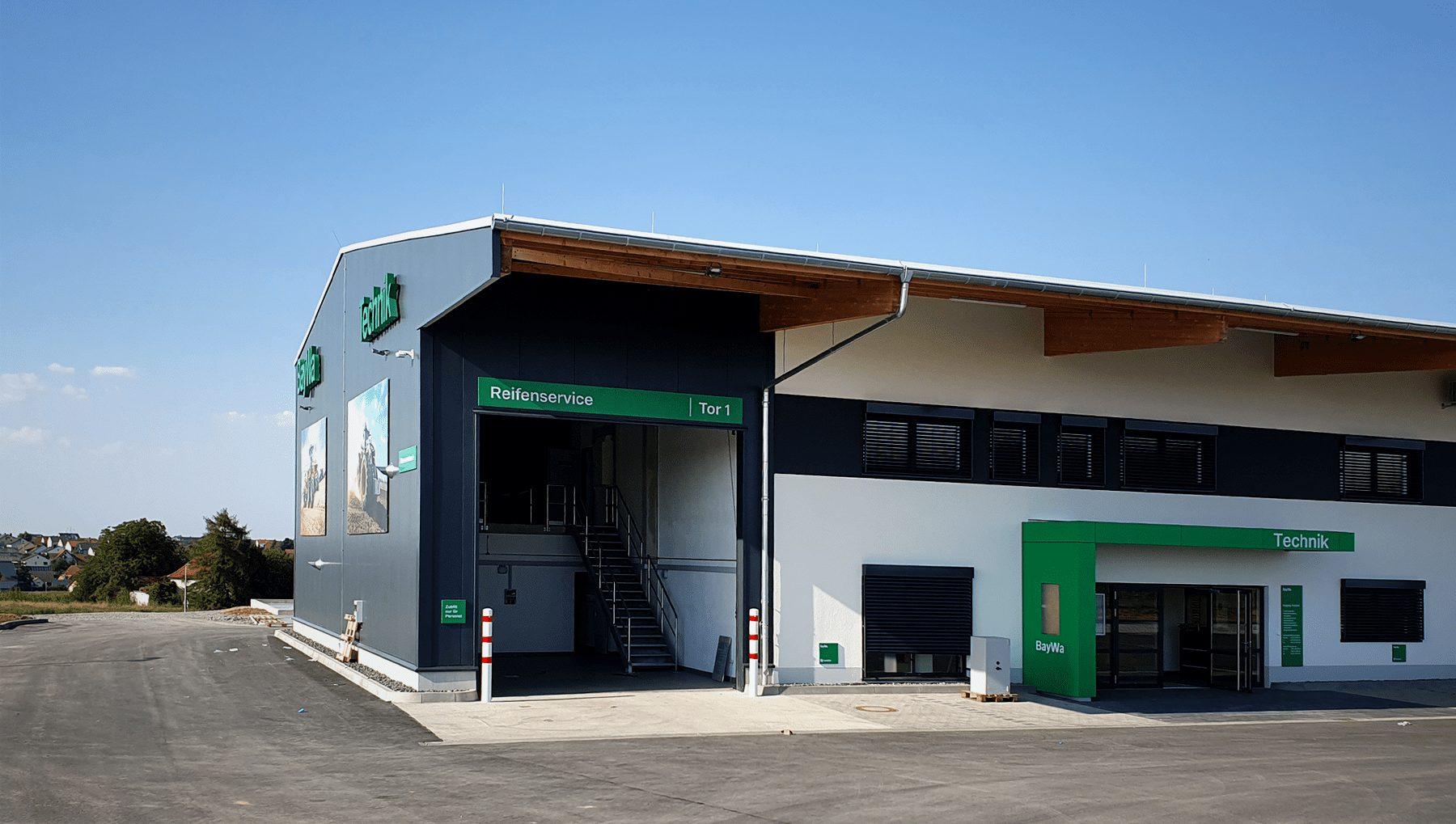 BayWa Technik – Standortausstattung in Unterpleichfeld