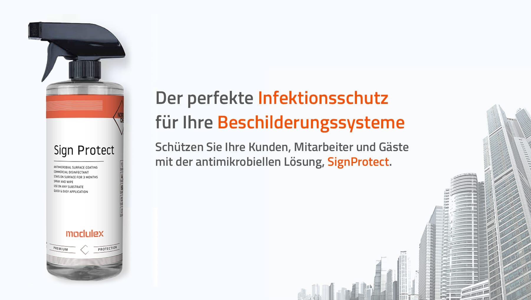 Modulex – Infektionsschutz für Ihre Beschilderungssysteme