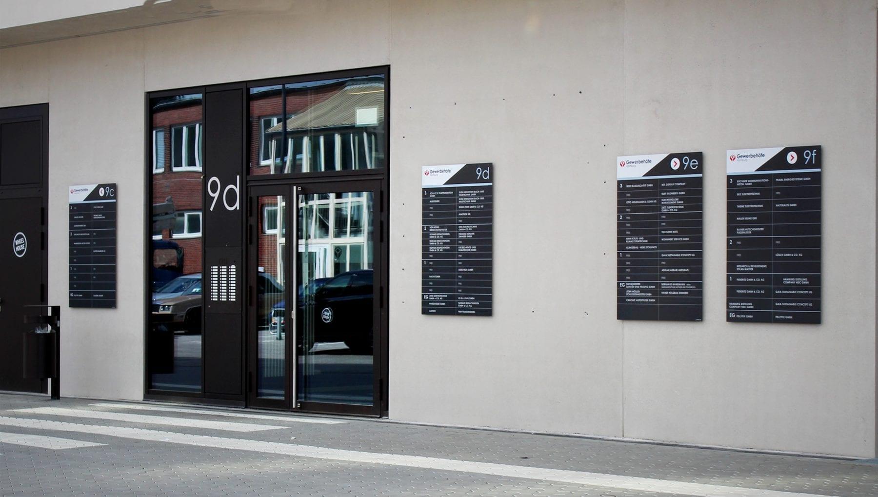 Die MEISTERMEILE – Neues Leitsystem für den Gewerbehof im Offakamp