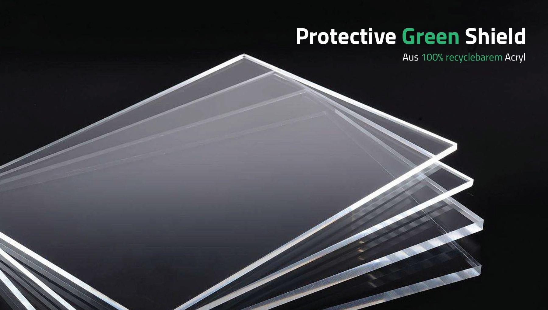 Modulex Protective Green Shield – Trennwand aus 100% recycelbarem Acryl