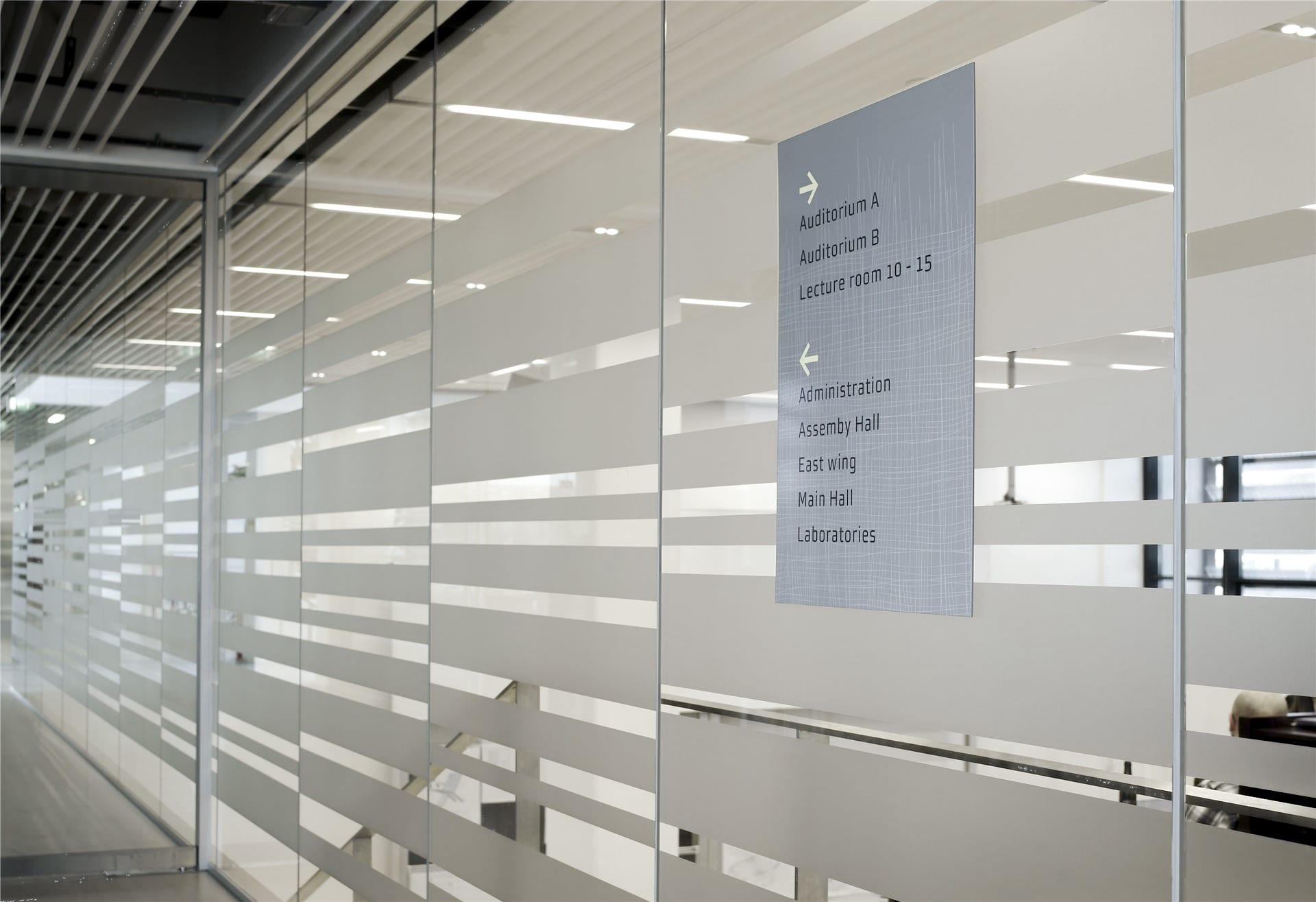 Glasfolie für Bildungseinrichtungen