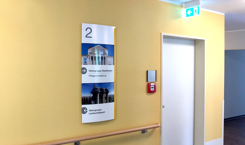 Juedisches Krankenhaus Wegeleitsystem Deckenschild Interior Kliniken