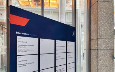 Bezirksamts Hamburg-Mitte – Erweiterung der Innenbeschilderung