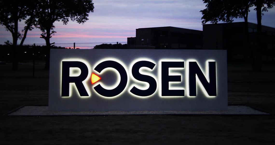 Leuchtbuchstaben für Rosen